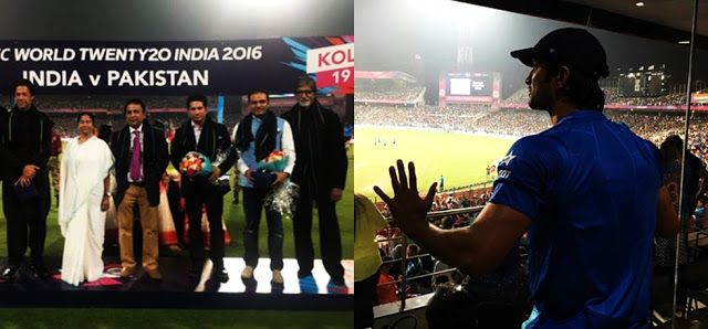 Glimpses of celebrities from India-Pak match.