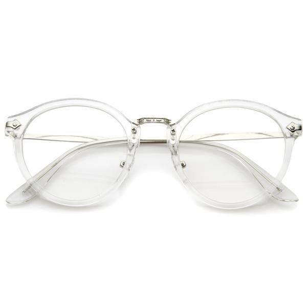 Ornate Engraved Vintage Dapper Clear Lens Glasses A844