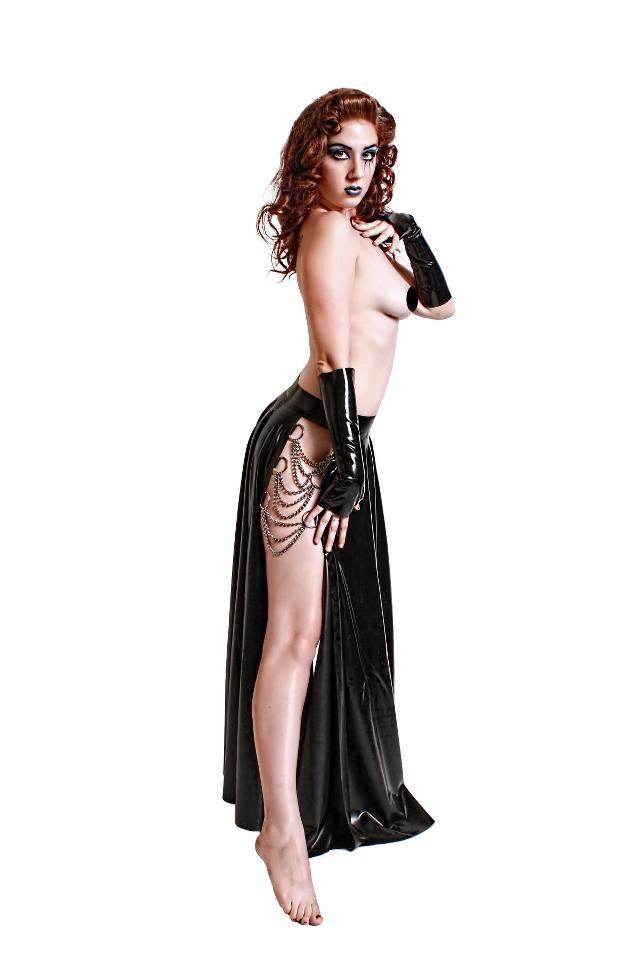 Latex Calypso Skirt.