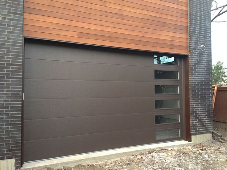 Fiberglass Garage Doors-Modern Fiberglass Garage Doors installed in Modern and Luxury house in Richmond Hill