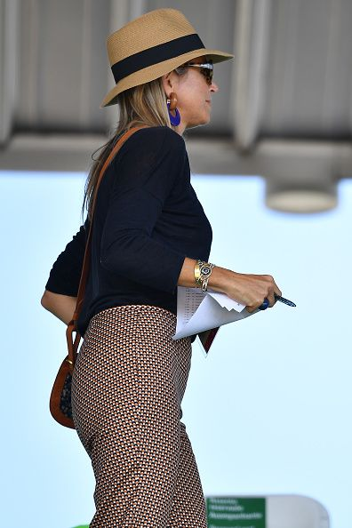 Queen Maxima of the Netherlands attends the round 2 of the Equestrian Jumping team at the Olympic Equestrian Centre on August 17 2016 in Rio de...
