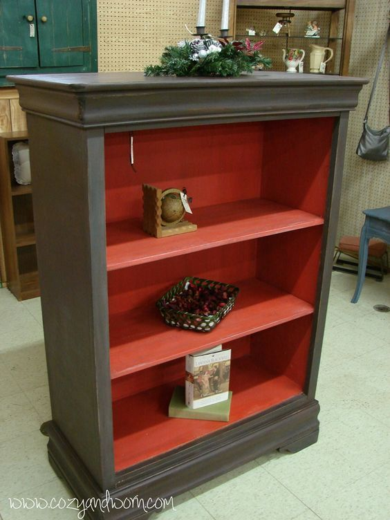 Old Chest Of Drawers Turned Into A Bookcase
