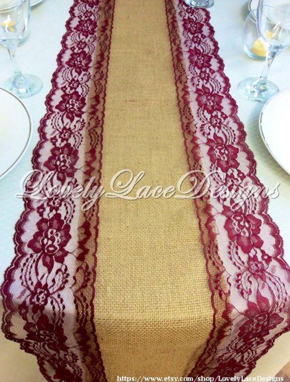 BORGOGNA abiti SPOSA/tela pizzo tavolo di LovelyLaceDesigns