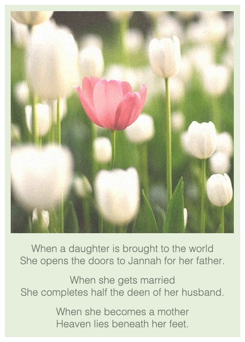 Jannah=Garden/Paradise  Deen=Way of Life  *If you are Christian this would be a Proverbs 31 woman*