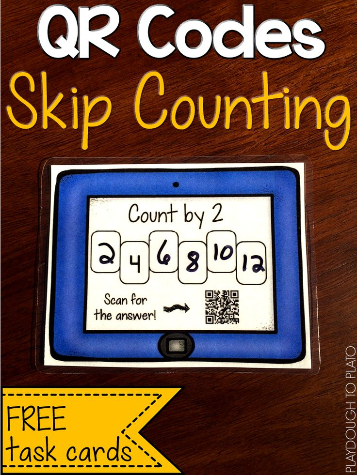 FREE Skip Counting QR Codes! Such a fun way to practice skip counting by 2, 5 and 10. Scan the code to check the answers. These are perfect for a kindergarten or first grade math center!