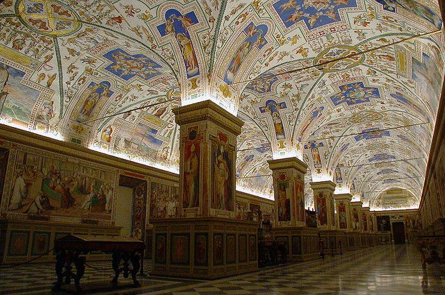 Library of the Vatican Museum - At some point visual stimulus becomes overwhelming.