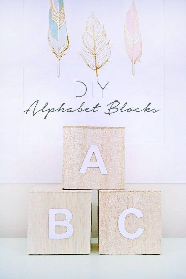 DIY Woodworking Ideas DIY Alphabet Blocks