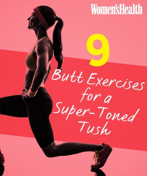 The 9 Best Butt Exercises | Women's Health Magazine #tone #exercise #workout #healthy #weightloss #fit #fitness #motivation