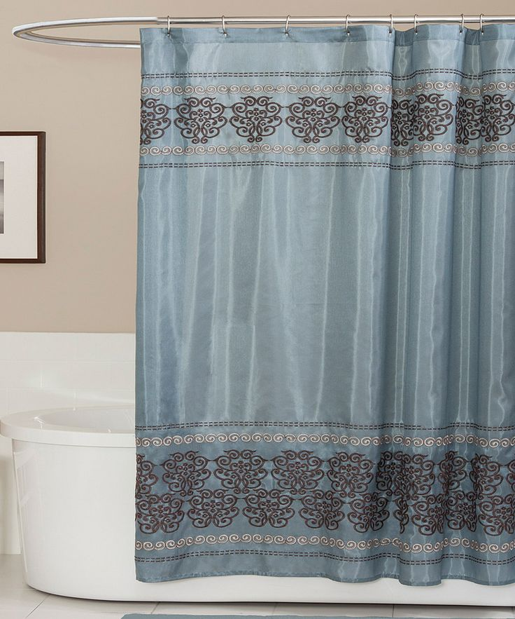 Grey And White Curtain Panels Cornflower Blue Shower Curtain