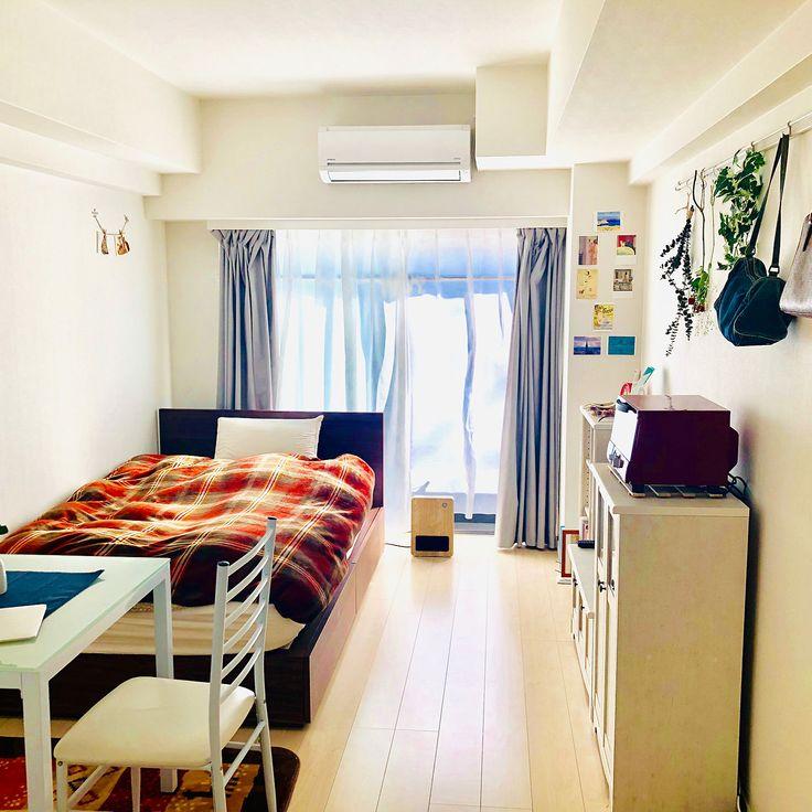 部屋全体 縦長の部屋 シンプル 一人暮らし ひとり暮らし 1k などのインテリア実例 2018 12 31 10 43 32 Roomclip ルームクリップ 部屋 シンプル インテリア 9畳 部屋 レイアウト