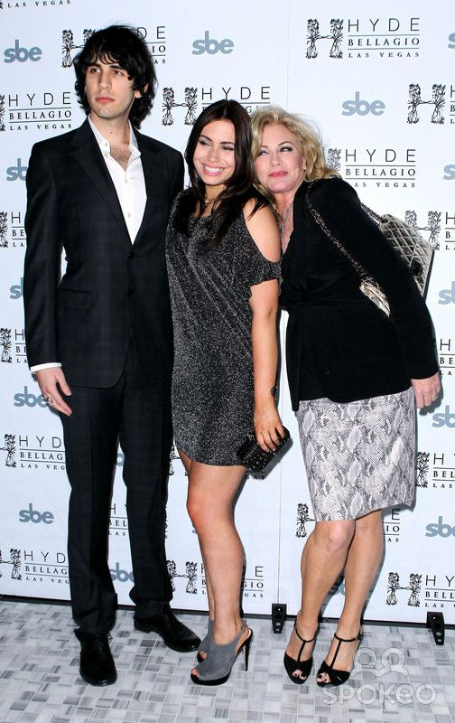 Nick Simmons, Sophie Simmons, Shannon Tweed. Nick Simmons celebrates his 23rd Birthday with Family Jewels and Performance at Hyde Bellagio. Las Vegas, Nevada - 09.03.12.