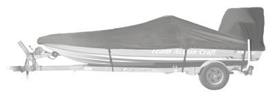 Bass Pro Shops Select Fit Hurricane Boat Covers for Flat Bottom Boats with Outboard - Gray - 18'6'' to 19'5''