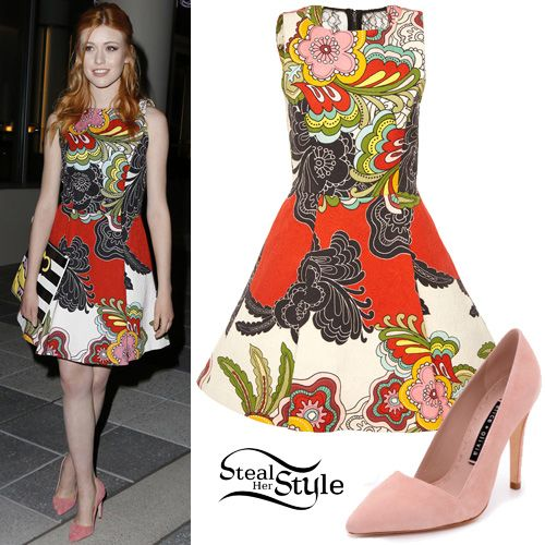 Katherine McNamara attends the Alice + Olivia Fashion show in Los Angeles. April 13th, 2016 - photo: PacificCoastNews