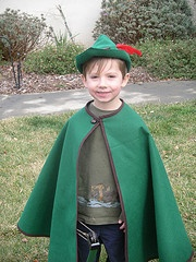 Robin Hood cape and hat