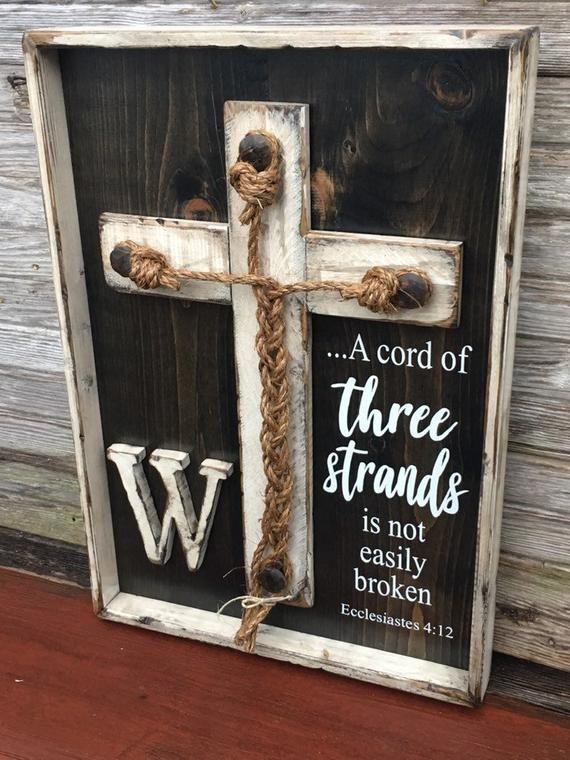 Wedding Braid Cross, A Cord Of Three Strands, Wedding