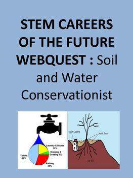 Who will help maintain our environment when the word reaches 9 billion people? Get your students engaged by exploring a career in soil and water conservation through this web quest.This would be a great sub planned activity, station activity, or homework assignment or project.