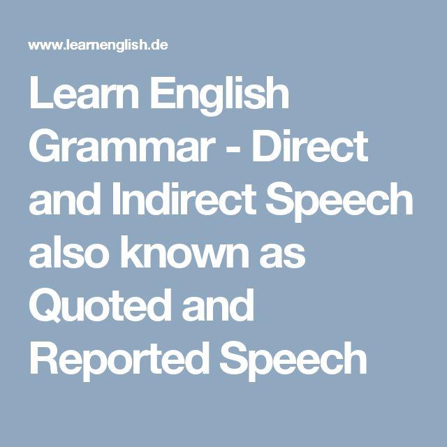 english grammar direct indirect speech pdf