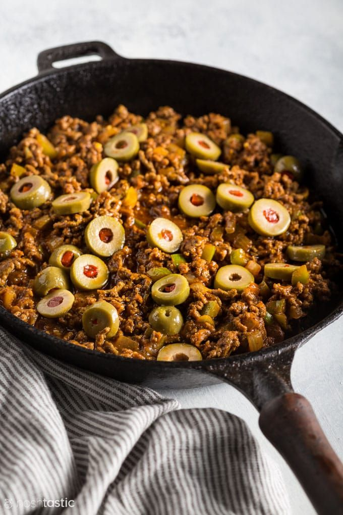 Picadillo Recipe Cuban Style Beef Hash With Ground Beef Olives Garlic Onions Bell Peppers And Spice Picadillo Recipe Super Healthy Recipes Beef Recipes