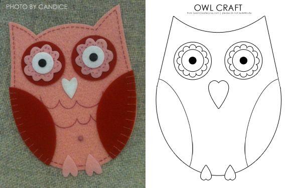 owl: House Crafts, Felt Crafts, Owl Crafts, Kids Crafts, Crafts Idea, Craft Blackboard, Cute Owl, Felt Owl, Owl Patterns