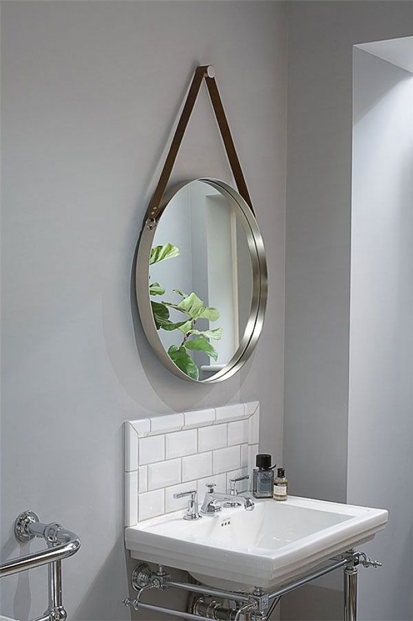 Dipre Wall Mirror Brushed Stainless, Brushed Stainless Bathroom Mirror