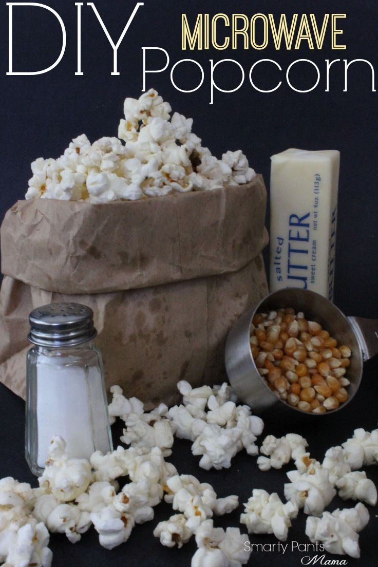 DIY Microwave Popcorn! Stay away from the chemical and make your own microwave p