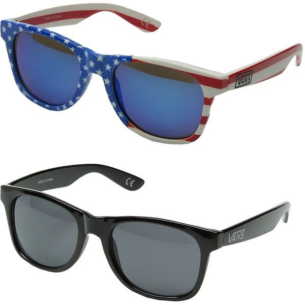 Vans Spicoli 4 Two-Pack (Flag Pack) Fashion Sunglasses ($18) ❤ liked on Polyvore featuring accessories, eyewear, sunglasses, blue, uv protection sunglasses, beach sunglasses, blue sunglasses, vans glasses and uv protection glasses