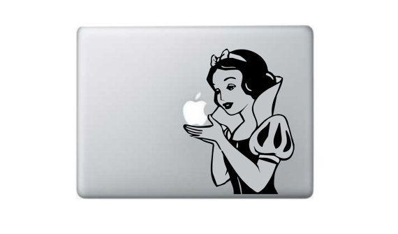 """Snow White  Macbook Decal Macbook Sticker 11"""" 13"""" 15"""" 17"""" Laptop Decal Laptop Stickers Stickers Macbook on Etsy, $10.03 CAD"""