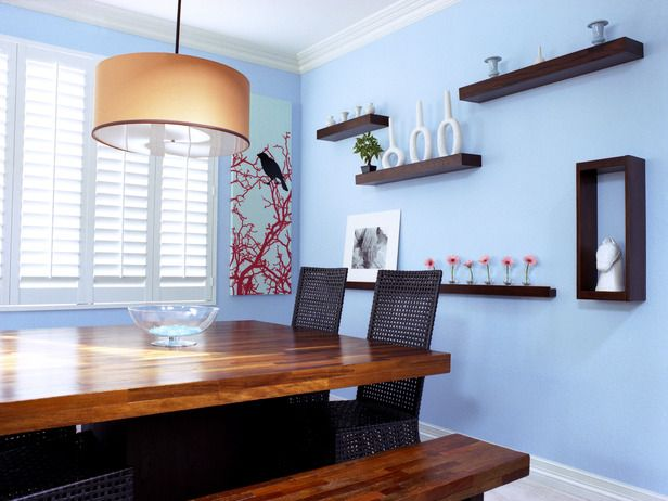 10 Ways to Incorporate Blue Into Your Design  #blue #hgtv