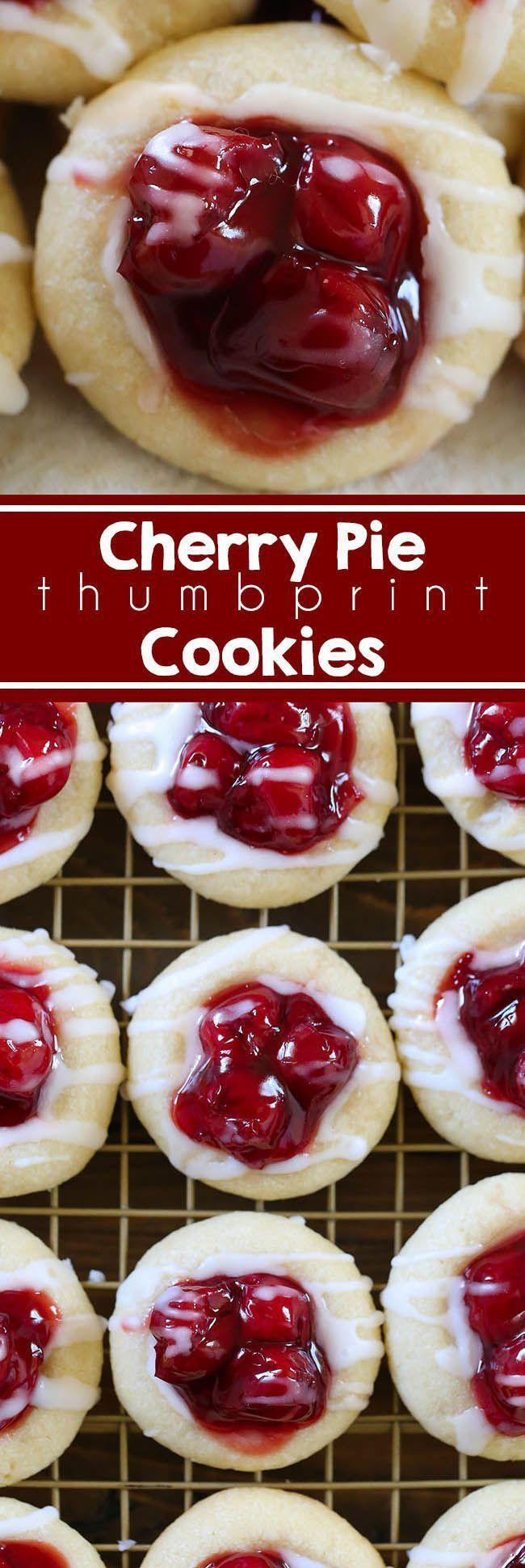 Cherry Pie Cookies – Diese Kekse werden aus Zuckerkeksteig hergestellt und …