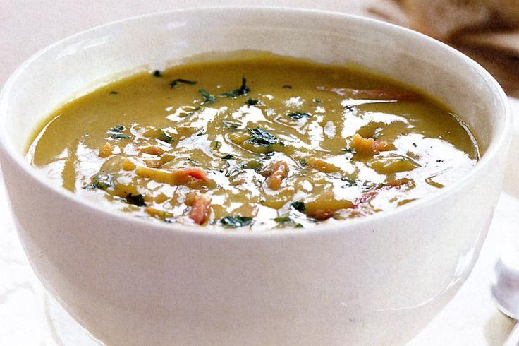 Pea & Ham Soup Recipe - Taste.com.au Suggest adding 500g split peas to ...