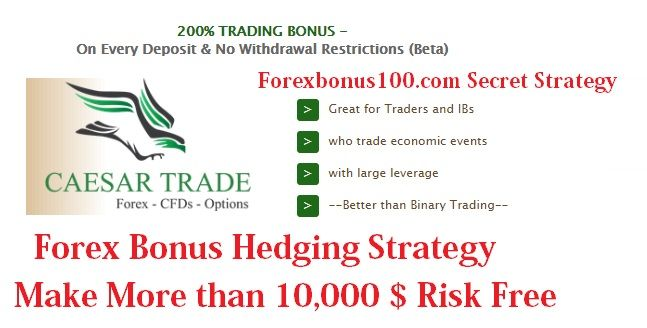 Forex Bonus Hedging Strategy -No Loss Method – Make 1000$ Monthly or more