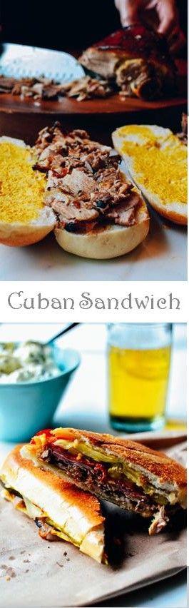 Cuban Sandwich Recipe by the Woks of Life #cuban #sandwich #roastpork #cheesy