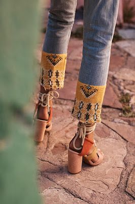Boho trim with lace up heels // HAATI CHAI