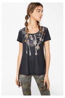 Desigual sportovní tričko A T-S Laces Y Luxury - 1399 Kč