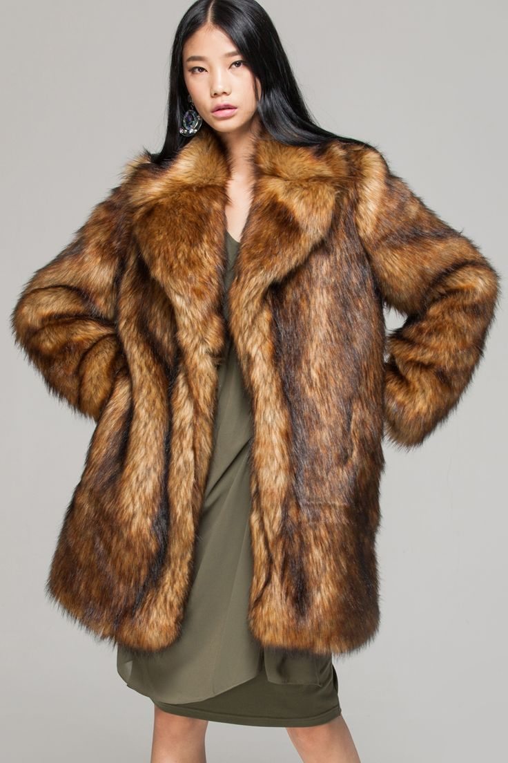 1000  ideas about Brown Faux Fur Coat on Pinterest | Brown fur