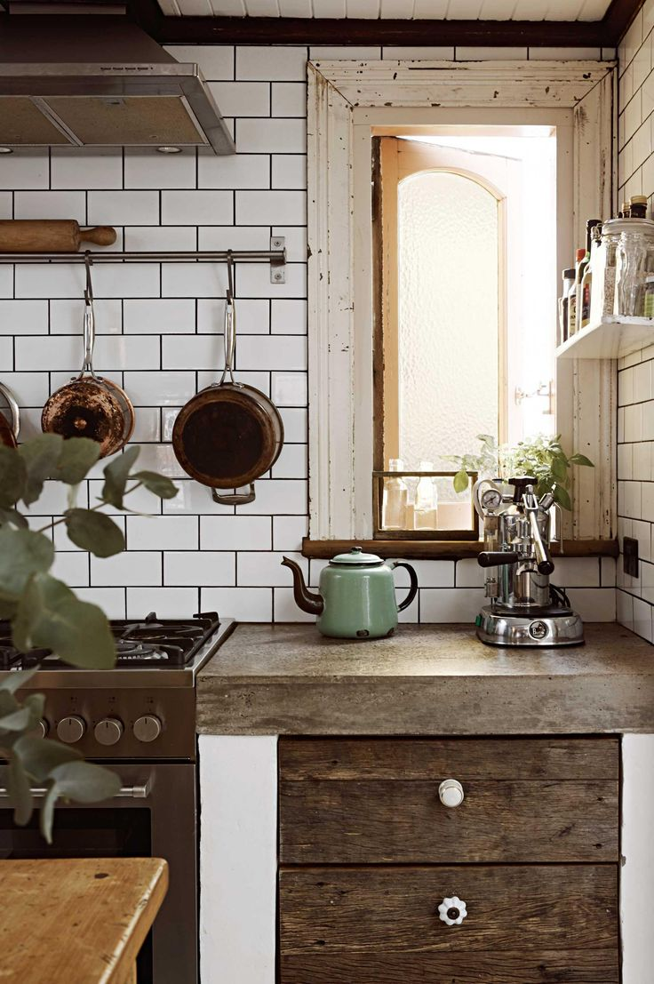 Rustic kitchen ideas from insideout.com.au. Styling by Nicole Valentine Don. Photography by Fiona Galbraith.