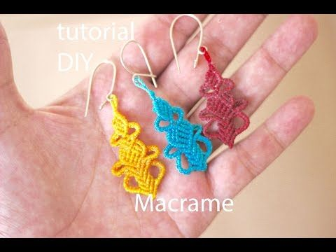 tutorial aros macrame cavandoli modelo 21 - YouTube