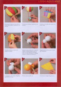 Revistas de manualidades Gratis: Como hacer globo aerostático en foamy