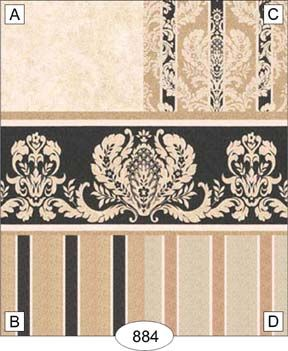 Wallpaper - Damask - Black