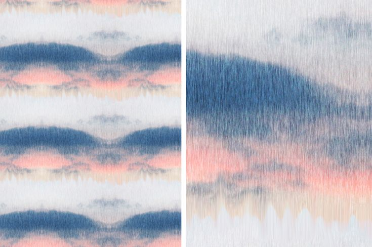 Dutch Skies inspired wallpaper surface pattern design // The Style Paper