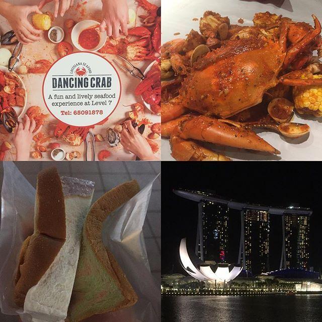 Instagram【happymania0809】さんの写真をピンしています。 《シンガポール旅行 2日目✨ ② 夜は ランカちゃんおすすめ🤗のダンシングクラブ🦀で ランカちゃんとチリ味のシーフードを手づかみで食べて デザートに 屋台の厳しい顔したおじちゃんの作る こじゃれたレインボー食パン🍞にバターみたいなアイスクリームを切って挟んだ パンアイス⁉️を食べマリーナベイで 噴水のショーを見てきました✨ ランカちゃん ありがと〜✨thank ÿ٥ϋ💜 #シンガポール旅行 #ダンシングクラブ#アイスパン#3姉妹#マーライオン #マリーナベイ#マリーナベイサンズ#手づかみ#夜景》