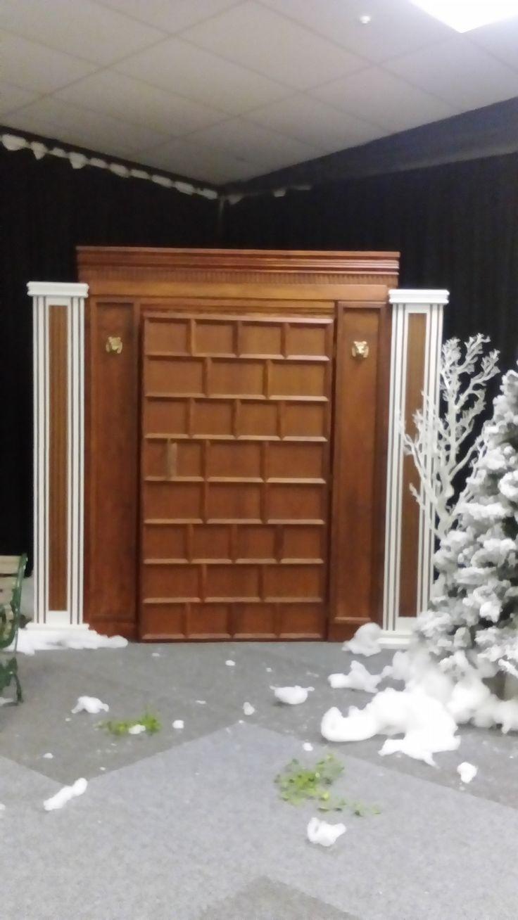 Narnia door taken down the end for the photos