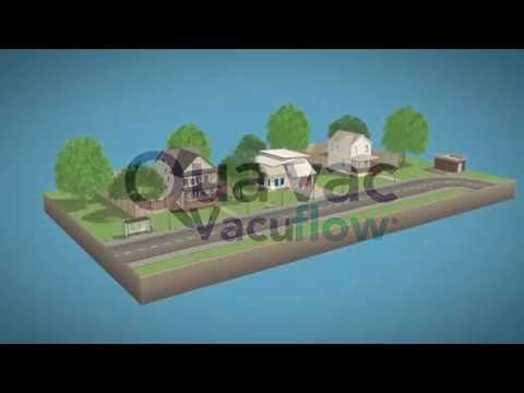 QUAVAC Vacuflow Vacuum Sewer system VS Gravity sewer system - YouTube