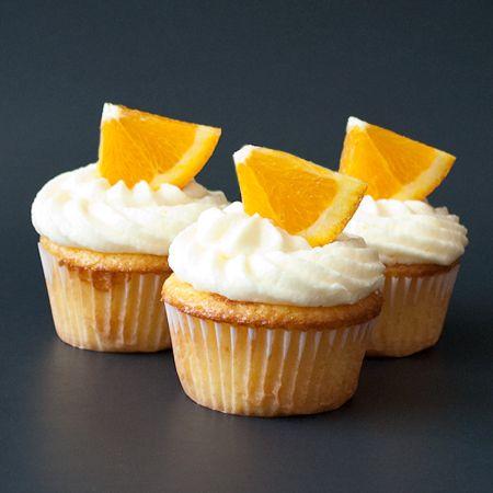 Orange cupcakes with orange buttercream