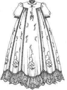 Vintage tgown Christening Gown