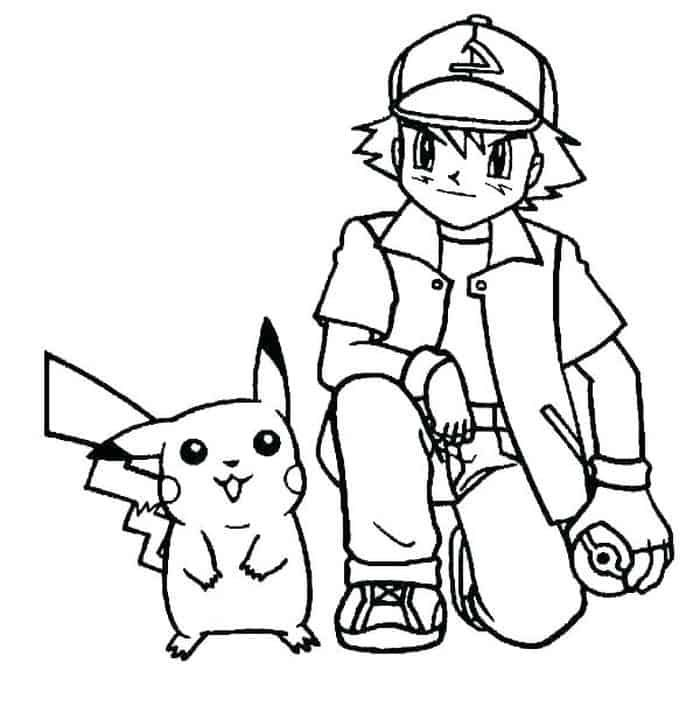 Ash And Pikachu Coloring Pages 1 Pikachu Coloring Page Pokemon Coloring Pages Pokemon Coloring