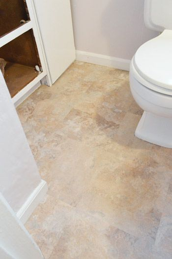1000 images about our house floors on pinterest vinyl for How to lay sticky tile in bathroom