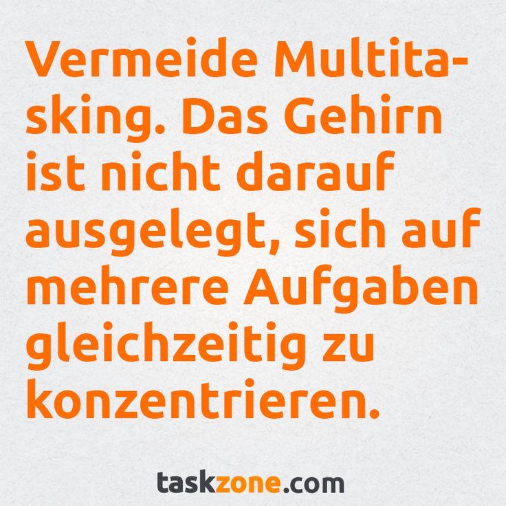 ... der Begriff Multitasking ist eigentlich der falsche Begriff für das was wir damit meinen. Das menschliche Gehirn ist nicht dafür ausgelegt, sich auf mehrere Aufgaben gleichzeitig zu konzentrieren. Stattdessen wechselt seine Aufmerksamkeit zwischen diesen. Es findet also ehr ein Switcht