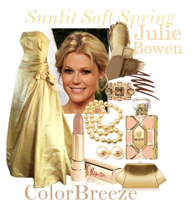 Julie Bowen - Sunlit Spring by prettyyourworld on Polyvore featuring beauty, Dolce&Gabbana, Gorgeous Cosmetics, Smashbox, Wildfox, Henri Bendel, Mikimoto, Chanel, ZAC Zac Posen and Harvey Berin