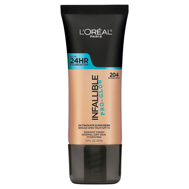 L'Oréal Paris Infallible Pro-Glow Foundation 204 Natural Buff 1 Fl Oz, Natural Buff 204